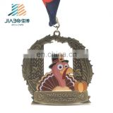 direct sell night run marathon cut out logos custom sports medal trophy