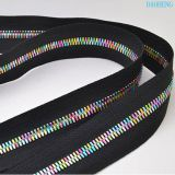 High-end Metal Granule Corn Teeth Zippers #5 Rainbow Color use for bags apparels customizable