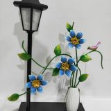 garden flower with solar light for home decor