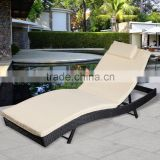 Adjustable Pool Chaise Lounge Chair Outdoor Patio Furniture