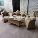 Modern style outdoor wicker patio furniture cube set arm sofa set price rattan SGS tested