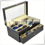 Luxury handmade cumstermized pu leather sunglasses case logo printing                                                                                                         Supplier's Choice
