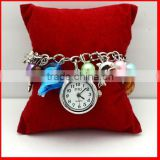 fashion baseball charm bracelet watch