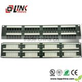 24/48ports utp cat5e patch pannel for network cable system