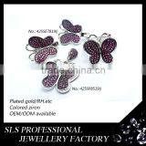 Dark red stone jewelry for pakistani artificial bridal jewelry sets butterfly charm