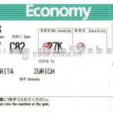 airline boarding pass check and luggage tag