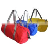 cheap barrel shape promotional travel bag 190T duffel bag