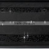 Bling License Plate Frame - High Quality Rhinestone Crystals with Chrome Plated Hardware