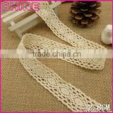 "1.14""Fashion Cheap 100% Cotton Fabric Lace Crochet Non-strech White Girl Dress Accessory China Factotry"