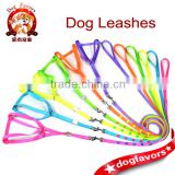 Neon Color Nylon Webbing Dog Harness and leashes with Colorful Rivet