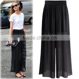 F20102A High quality fashion women's pants plus size palazzo pants for fat women high waist loose pants