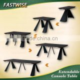 black modern extendable dining table for dining room
