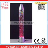 88CM Colour Changing LED Novelty Bubble Fish Water Tube Mood Light table Lamp