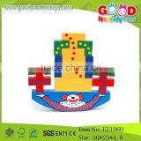DIY Clown Shape Wooden Blocks Toys Toy Balance Blocks