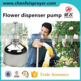 Plastic and chromed custom garden sprayer pump head nozzle sprayer for glass bottle