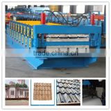 double color sheet roof panel making cold roll forming machine