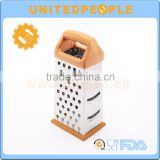 Wood Grain Handle 4 Sided Shaped Multi-purpose Zester Grater