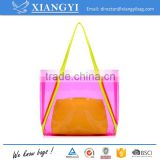 Wholesale promotional Eco-friendly clear PVC waterproof shopping bag beach bag                                                                                                         Supplier's Choice