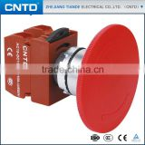 CNTD High Quality 22mm Hole diameter 110V Pushbutton Switch Emergency Stop Button 60mm(C2PNR6)