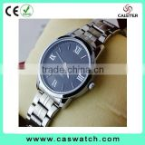 High quality delicate couple watch, custom made men women watch, stainles steel band water resistant watch