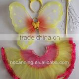 colorful decoration fairy wing/fantasy butterfly Wings/angel wing costume set for kids cheap