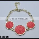 CORAL IBIZA ROCK Volcanic rock Lobster clasp 2014 wholesale alili express fashion bracelet jewelry
