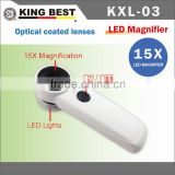 KING BEST 15X Optical coated lenses magnifier lamp magnifier loupe bright LED magnifier led