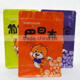 wholesale high quality custom size PET+AL+PE lamination zipper printing stand up pouch