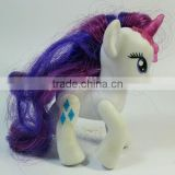 Children PVC Plastic Figure Toy.White Little Pony with Purple Tail.Popular and Hot Sale in 2014