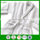 honeycomb white 100% cotton bathrobe waffle for mens