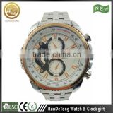 Silvery case gold bezel two buttons two eyes brands watch china