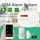 APP SMS remote controled Wireless GSM alarm system support check the sim card fee dirctly
