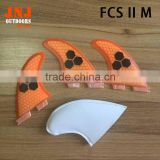 2016 High quality FCS 2 M fins with fiberglass honey comb material for surfing (Tri-set)G5 FCS2