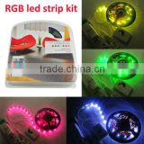 rgb led strip kit( watproof led strip light+remote controller+driver)