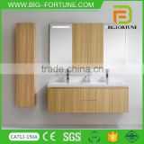 Wall mounted double basin used bathroom vanity cabinets                                                                                                         Supplier's Choice