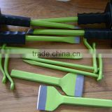 professional flat and sharp head hexagonal metal steel masonry tools cold stone mortising chisel