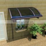 New design Easy DIY design double Polycarbonate sheet door window canopy awning with portable