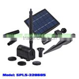 0.52m head 150LPH flow rate solar brushless fountain pump with 1.5w solar panel (SP1.5-320605)
