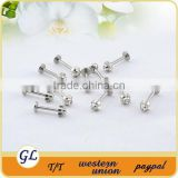 cross jeweled lip piercing body jewelry