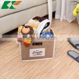 2015 jute Storage bin Folding bin household items Storage barrel(L)