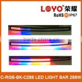 "50"" rgb color change led flash light bar strobe 12v blue yellow and red 50"" curved led flash light bar                                                                         Quality Choice"