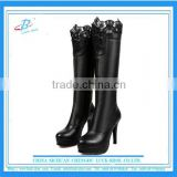 Black high heel long boots paltform long boots stiletto heel over knee boots