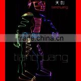 Wireless DMX512 Programmable Western dancing LED suit costume