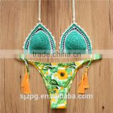 manufacturer for crochet brazillian bikini, Hot sale fashion neoprene bikinis women swimwear