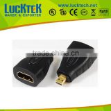 Adapter HDMI A to Micro plug,M/M, golden plated. REACH COMPLY!