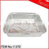 Disposable aluminum foil food container/fast food plate/BBQ tin tray in guangzhou