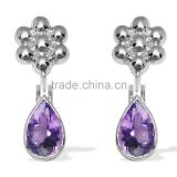 Beautiful Fine Quality Natural Amethyst 925 Sterling Silver Gemstone Earrings