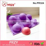 PRZY PR324 6 cavity ball silicone mold for cake decorating