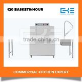 2016 Tunnel Type 120 Baskets Industrial Kitchen Restaurant Equipment Stainless Steel Dishwasher Machine