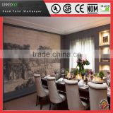 2015 Newest Hotel Decoration Chinese Silk wallpaper hand paint Factory Price